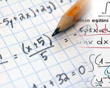 matematik çalışmak